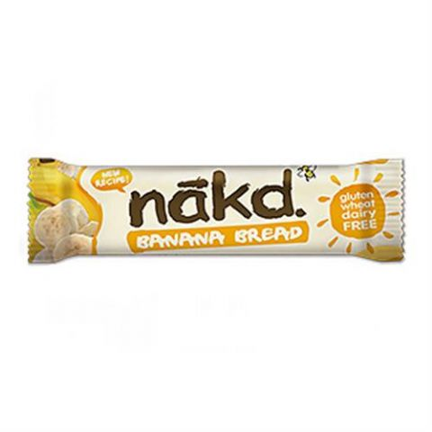 Banana Bread - Nakd Raw Fruit, Oat & Nuts Bars 30g